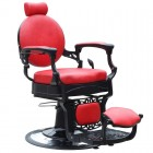 Barber Chair GABBIANO PRESIDENT Red
