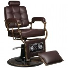 Barber Chair GABBIANO BOSS OLD LEATHER Bordo
