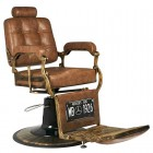 Barber Chair GABBIANO BOSS OLD LEATHER Light Brown