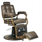 Barber Chair GABBIANO BOSS OLD LEATHER Grey
