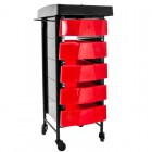 Hairdresing Trolley Т-008 Timer, Black-Red