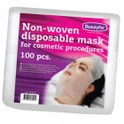 BEAUTYFOR Nonwoven mask for facial treatments 100 pcs.