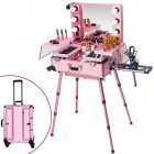 BEAUTYFOR Portable illuminated make up station KC-210, pink