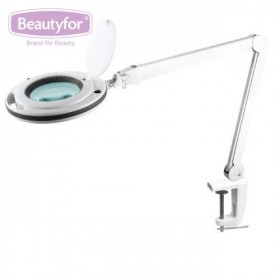 "BEAUTYFOR Magnifying lamp with LED lights, table fixation ""6017"", 9W"