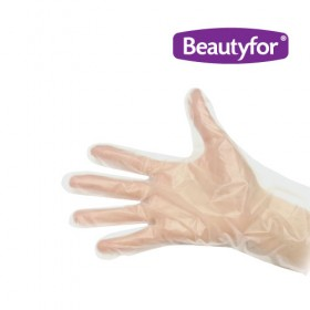 BEAUTYFOR Disposable PE gloves, 100 pcs.